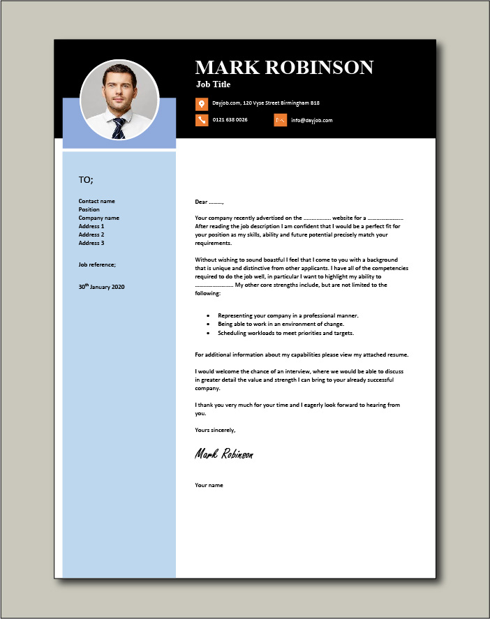 Cover letter that is different