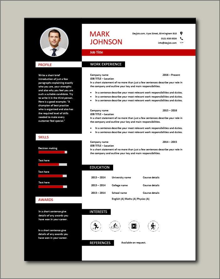 Elegant CV template