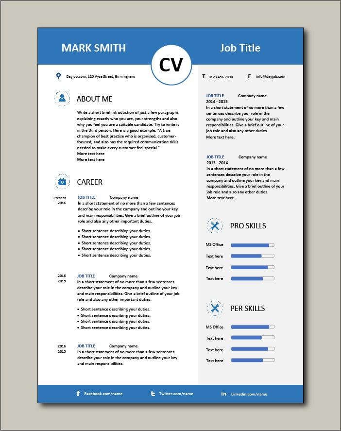 50 attractive resume template