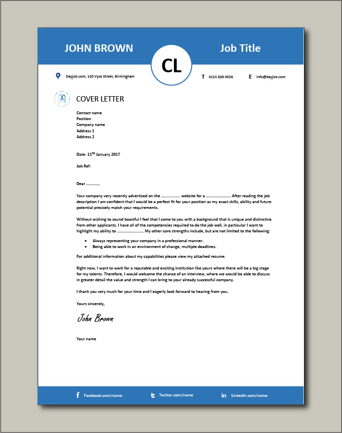 50 cover letter example