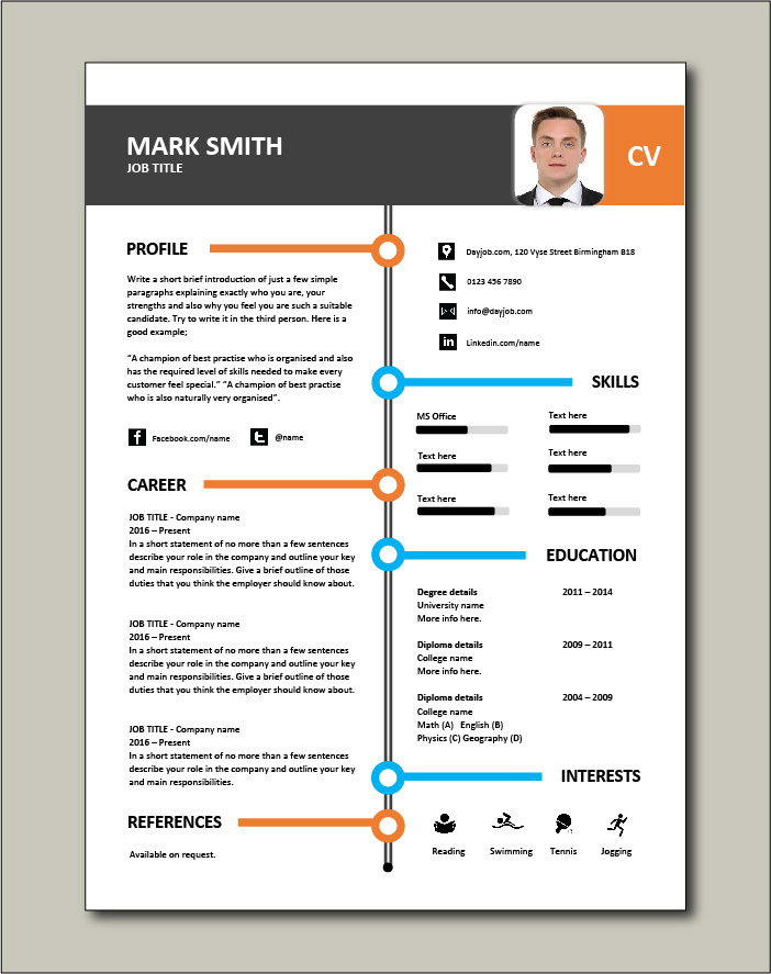 Another superb CV template