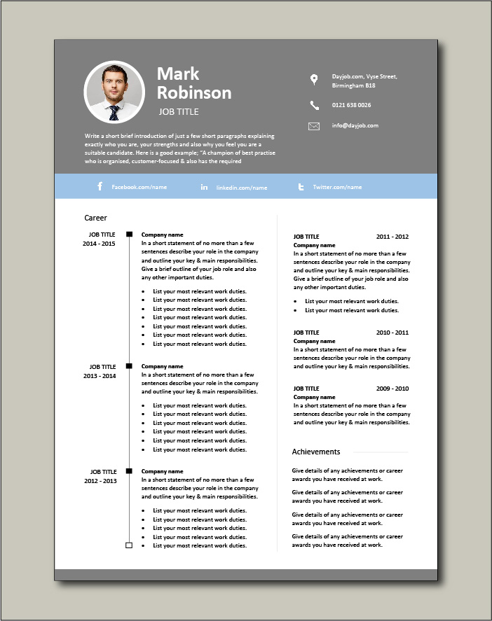 Another excellent CV template