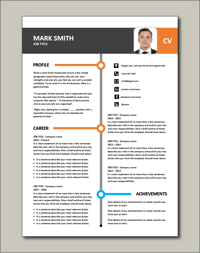 CV template with more space