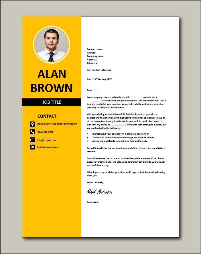 Cover letter example 26