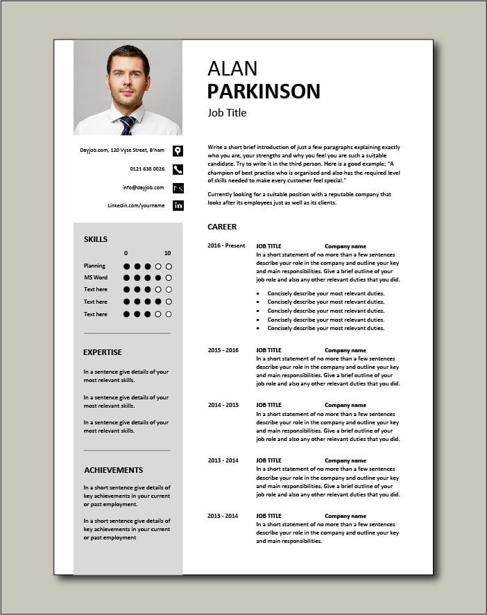 Premium CV template 32 - 2 page version