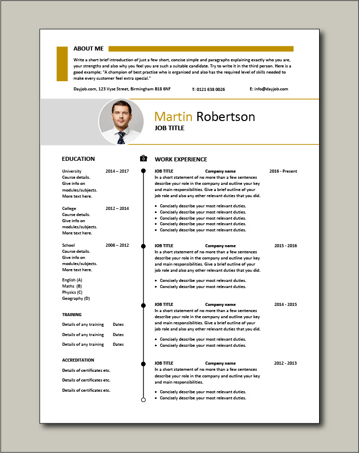 Premium CV template 34 - 2 pager version