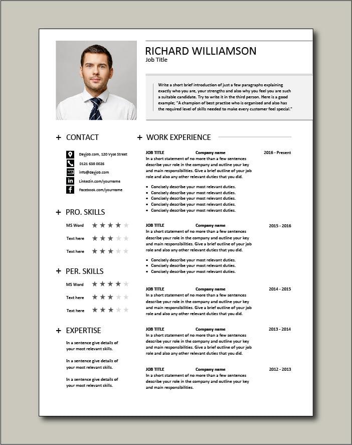 Premium CV template 35 - 2 page