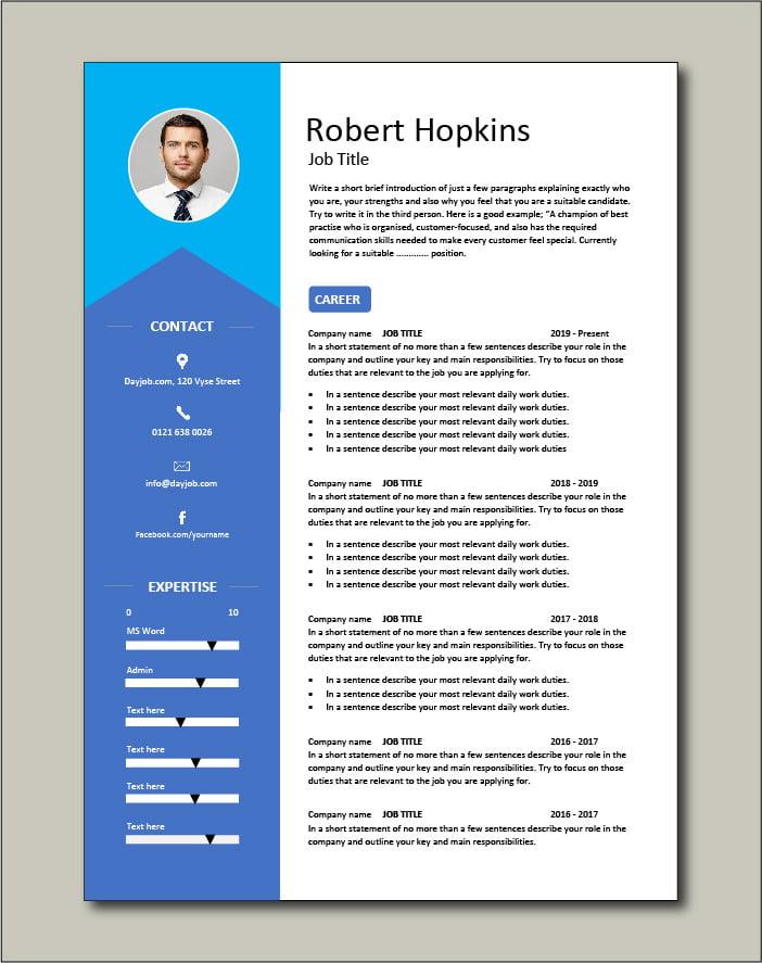 Premium CV template 40 - 2 page version