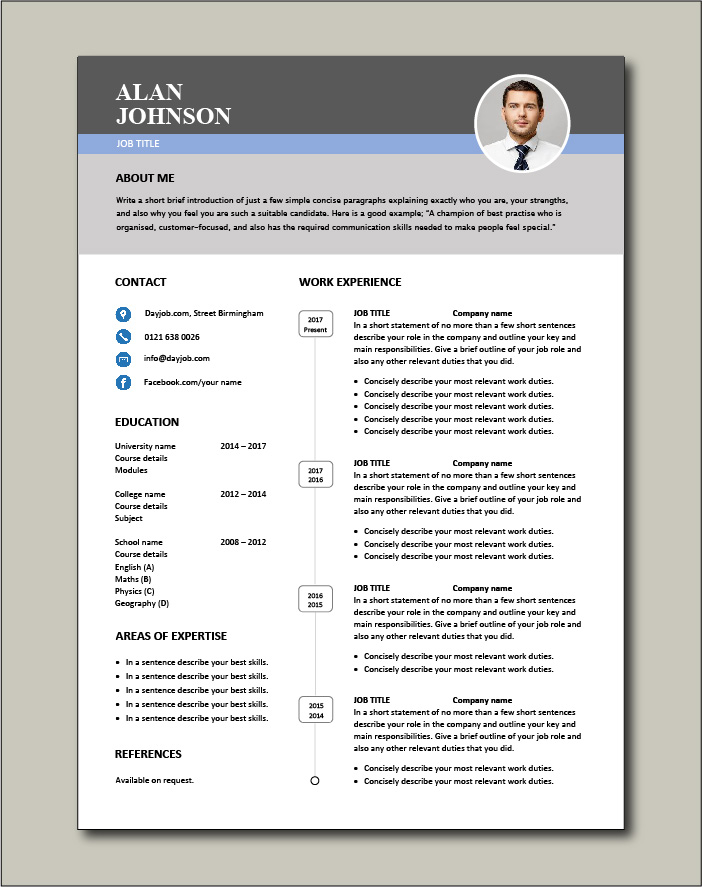 Premium CV template 45 - 1 page version