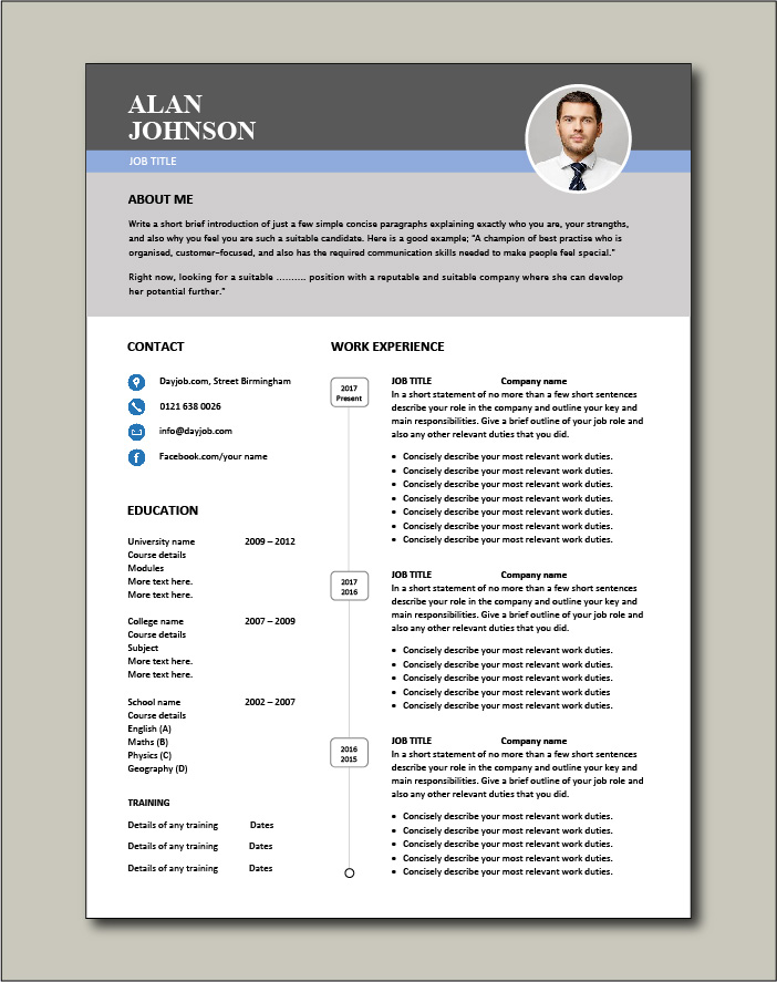 Premium CV template 45 - 2 page version