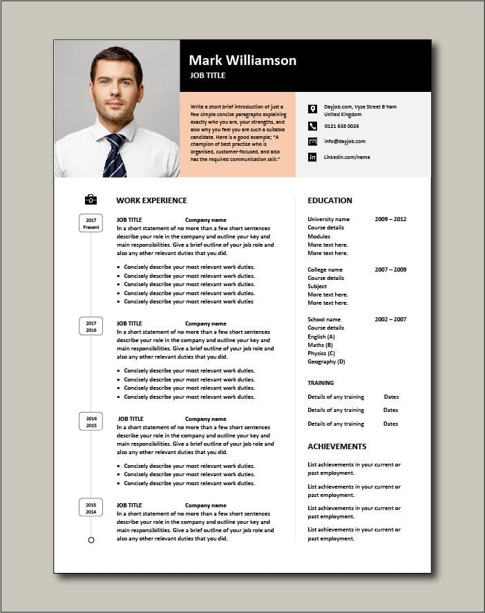 Premium CV template 46 - 2 page version
