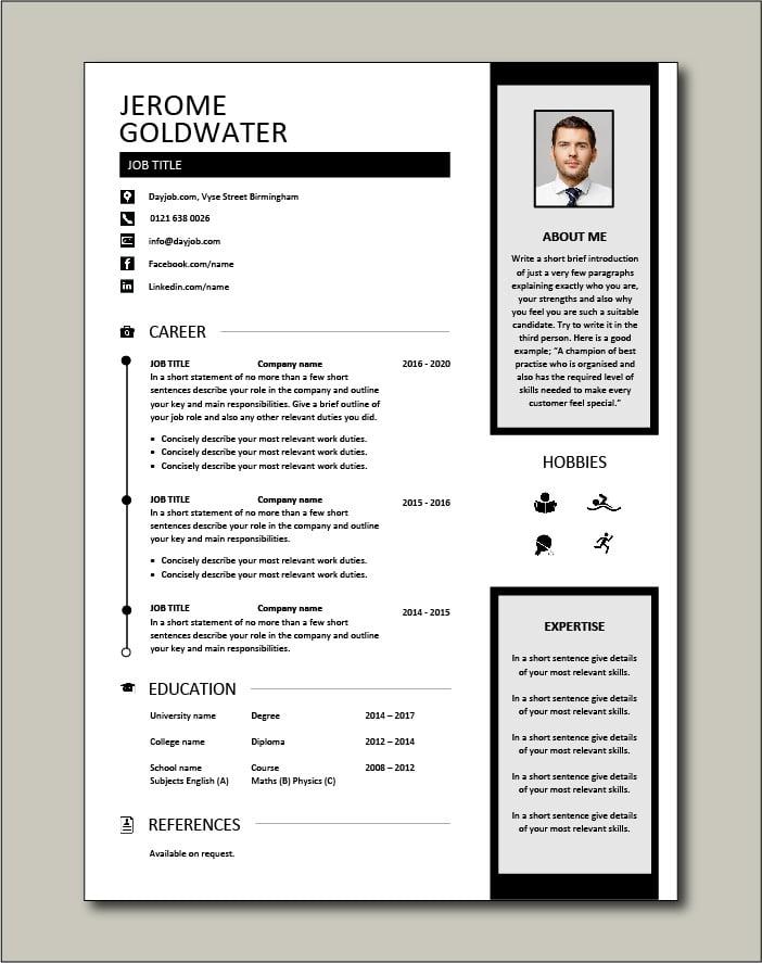 Premium CV template 47 - 1 page version