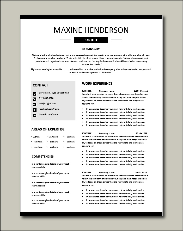 Premium CV template 48 - 2 pager version