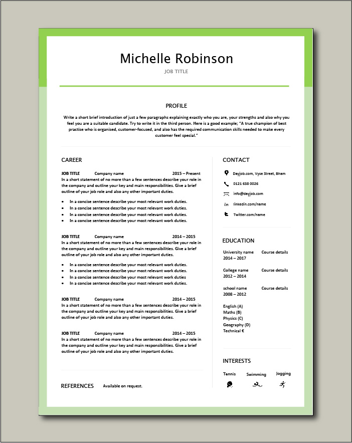 Premium template 29 - 1 page