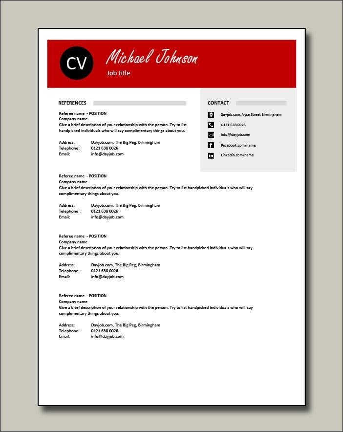 Premium template 3 - References