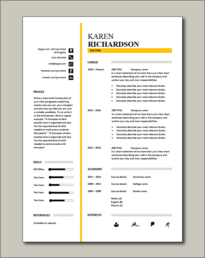 Premium template 30 - 1 page