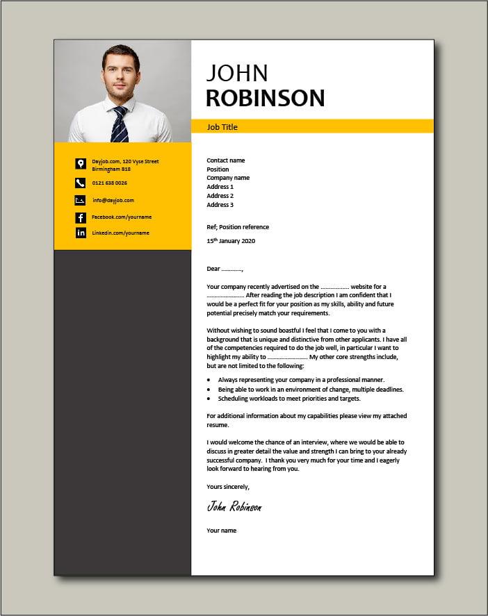 full editable cover letter template