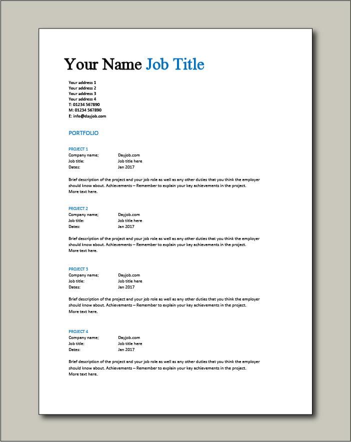 CV template 1 - Portfolio