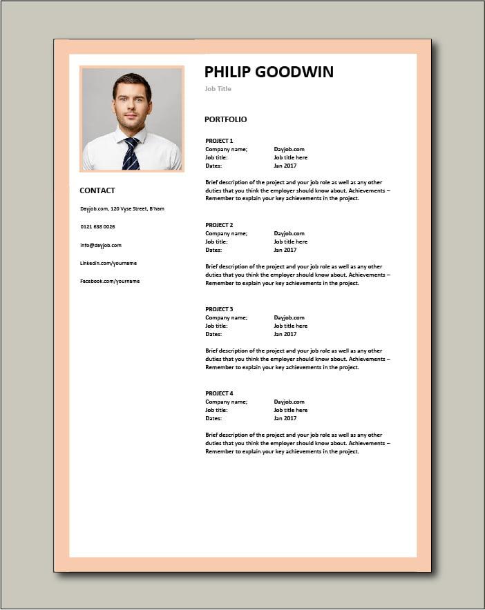 CV template 11 - Portfolio