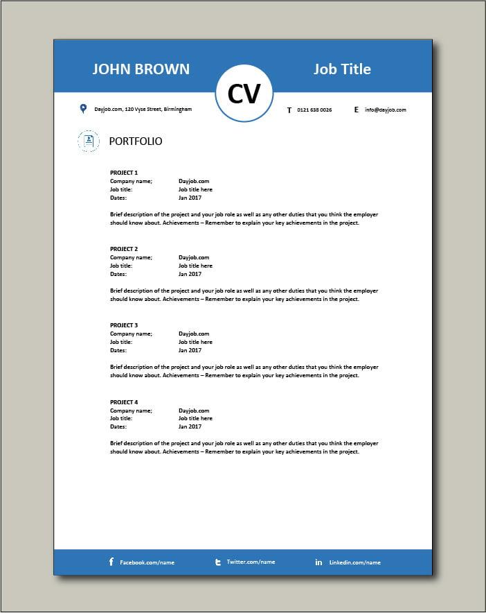 CV template 13 - Portfolio