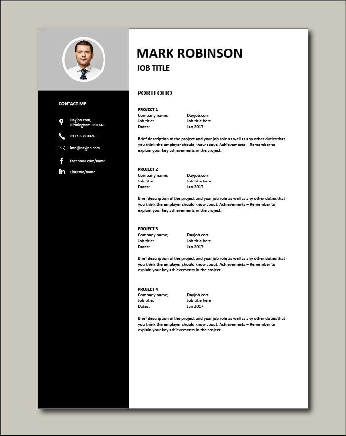 CV template 15 - Portfolio