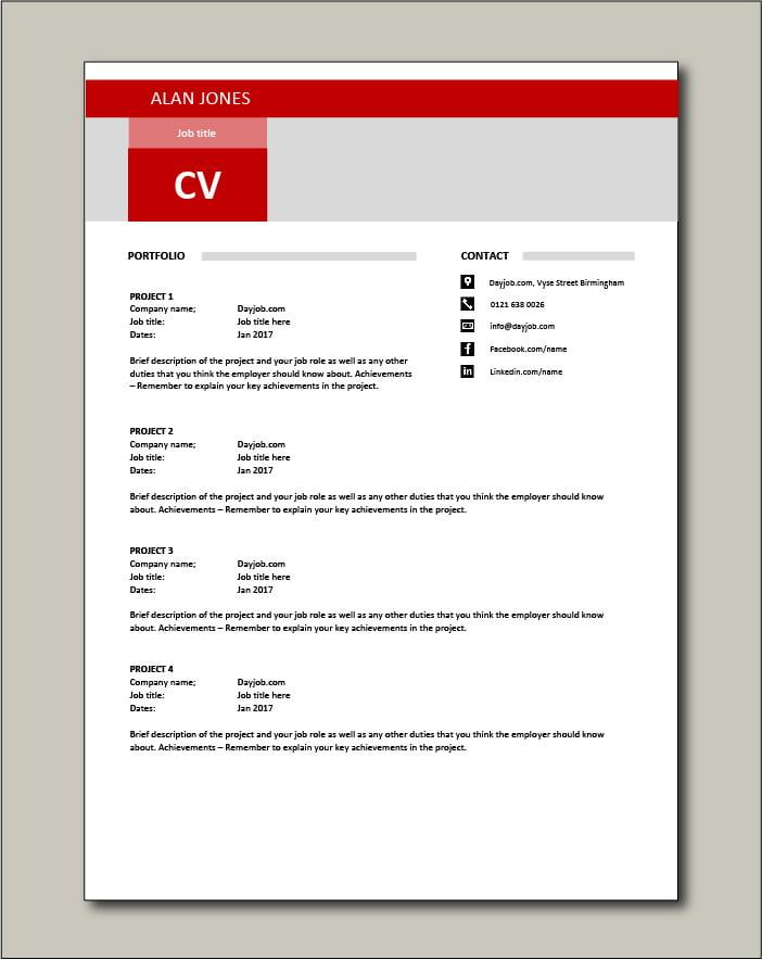 CV template 17 - Portfolio