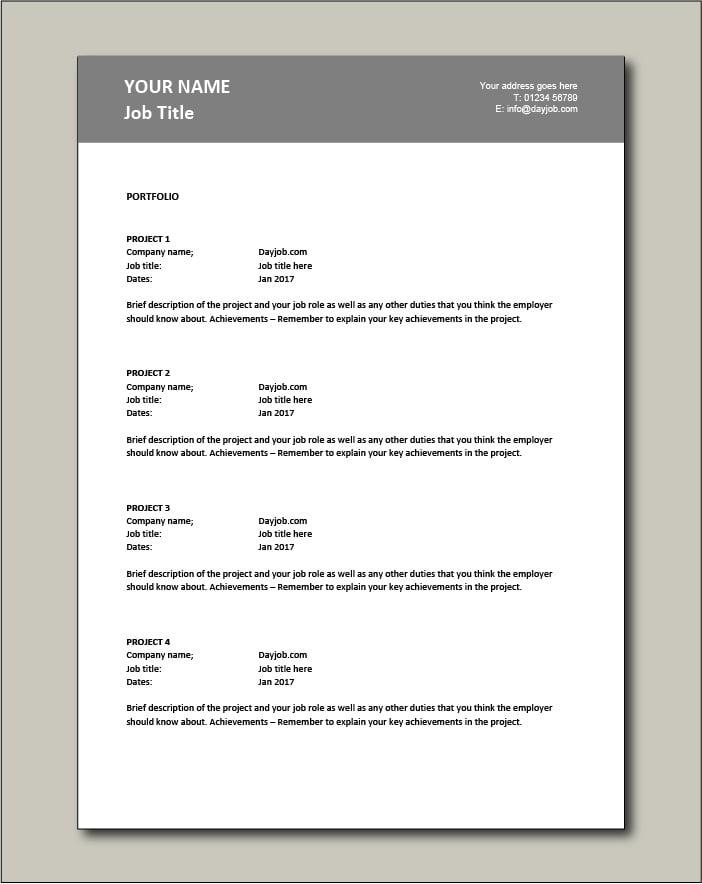 CV template 19 - Portfolio