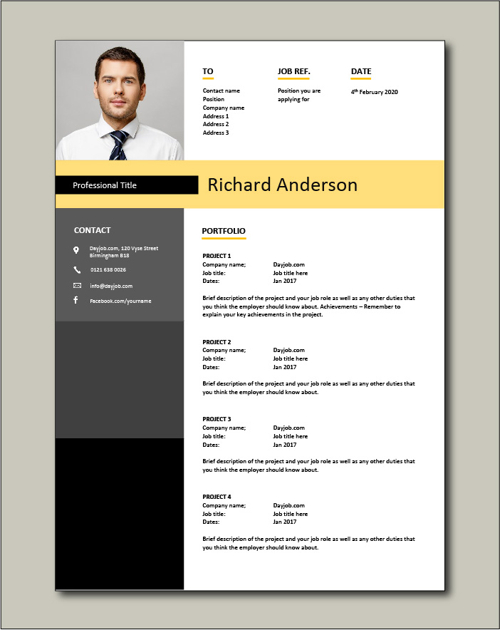CV template 21 - Portfolio