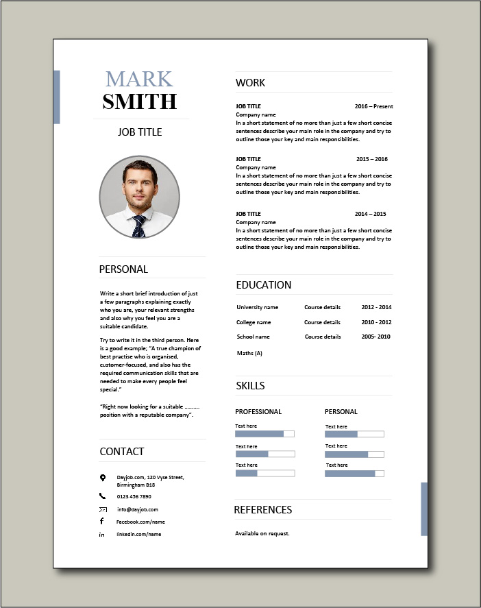 CV template 23 - 1 page