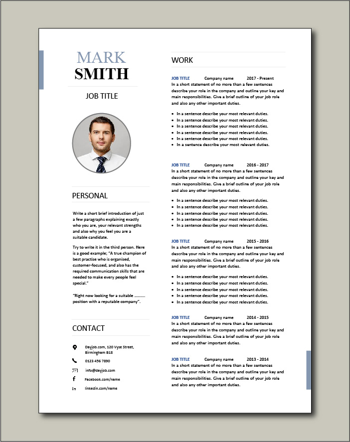 CV template 23 - 2 pages