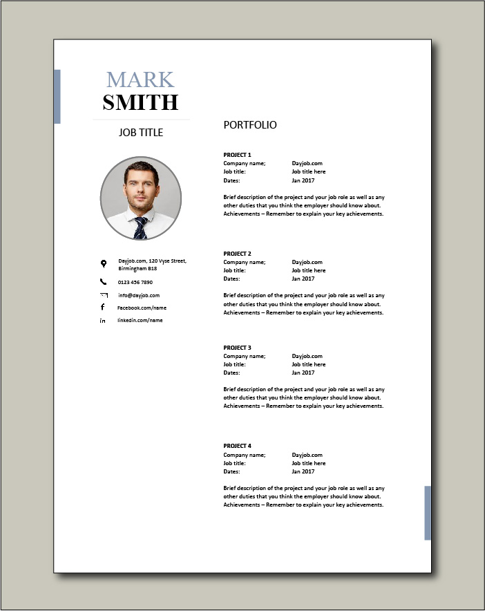 CV template 23 - Portfolio