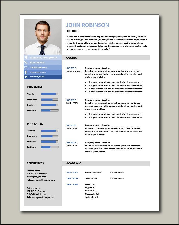 CV template 24 - 1 page