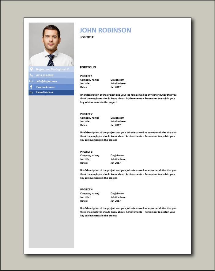 CV template 24 - Portfolio