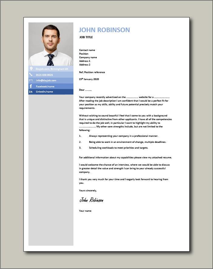 CV template 24 - cover letter