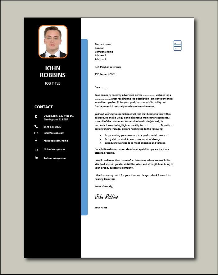 CV template 25 - Cover letter