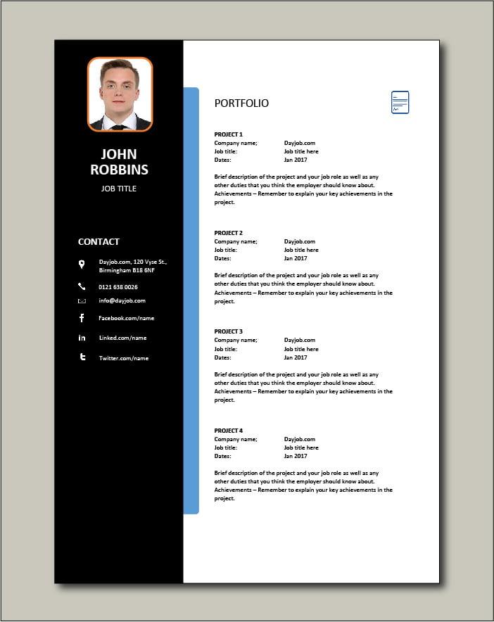 CV template 25 - Portfolio