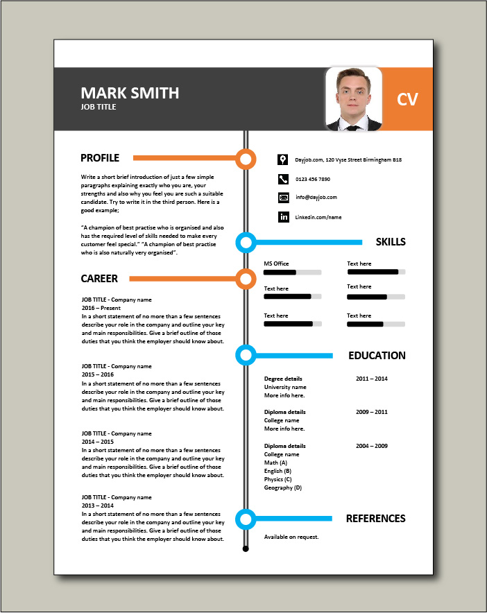 CV template 26 - 1 page