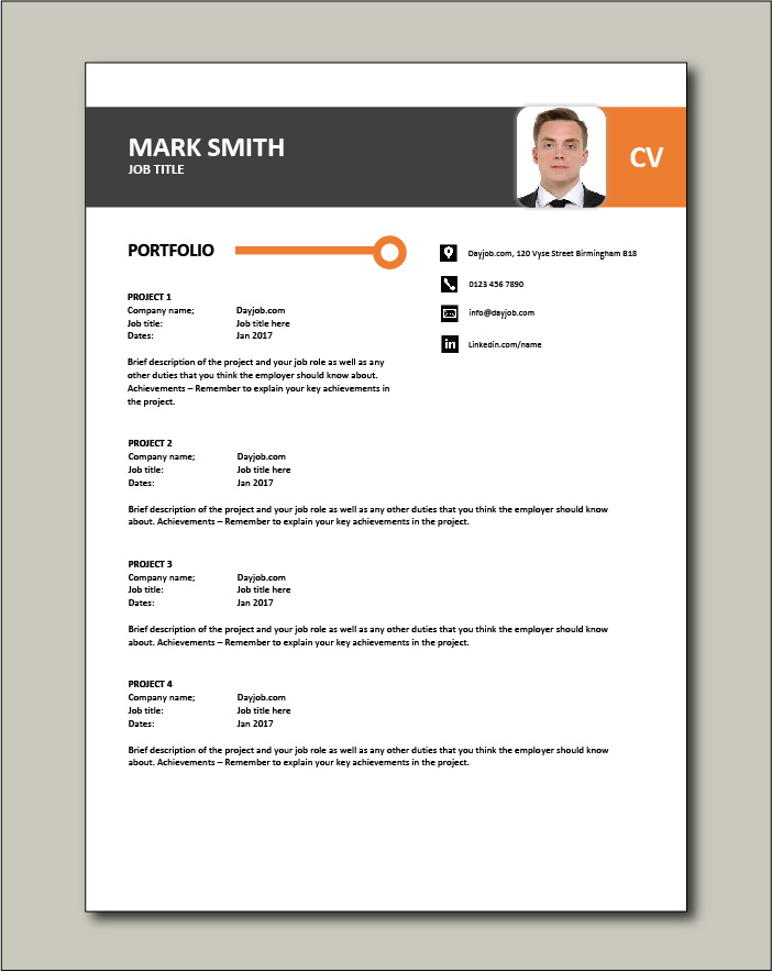 CV template 26 - Portfolio