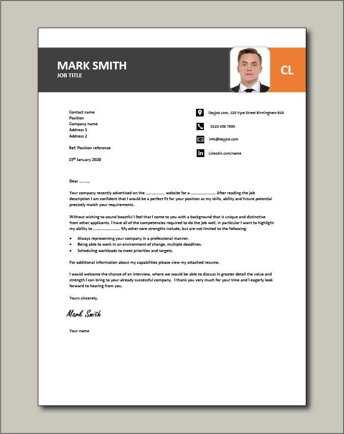CV template 26 - cover letter