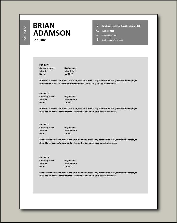 CV template 27 - Portfolio