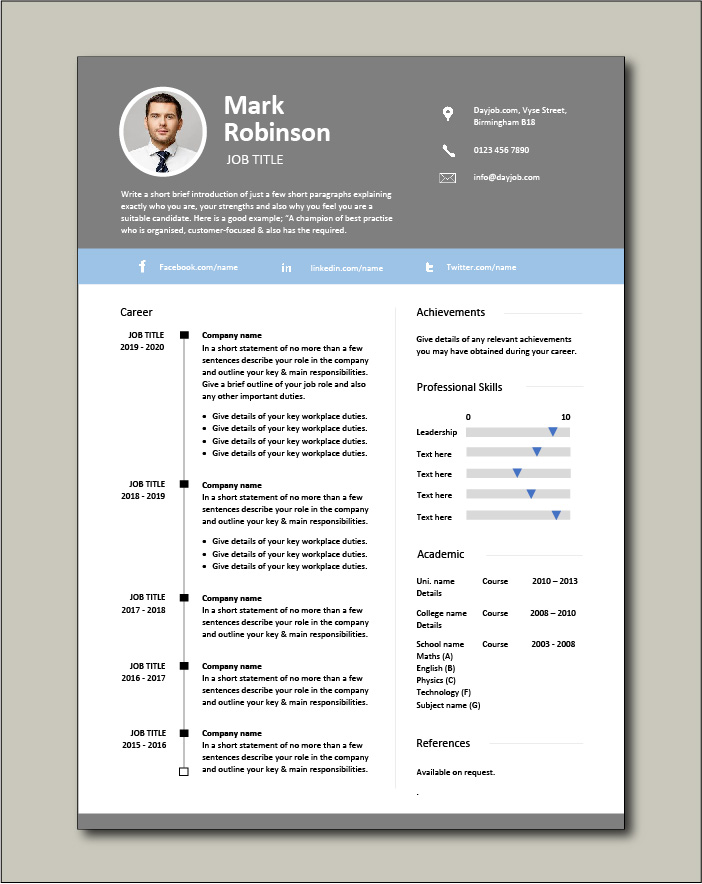 CV template 28 - 1 page