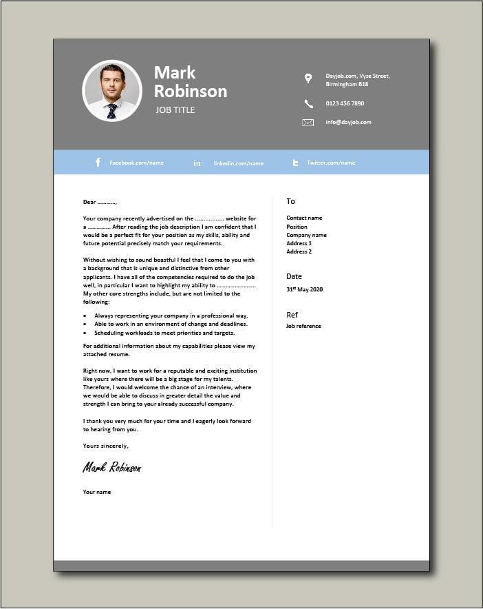 CV template 28 - Cover letter