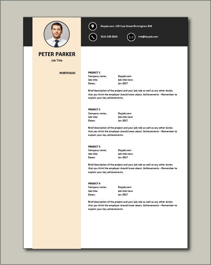 CV template 29 - Portfolio