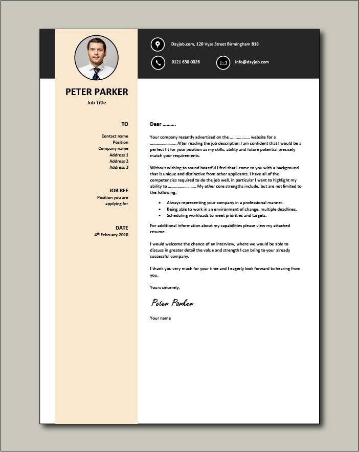 CV template 29 - cover letter