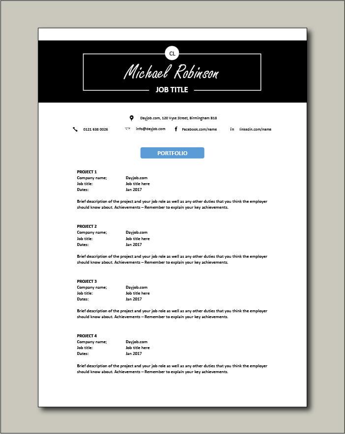 CV template 30 - Portfolio