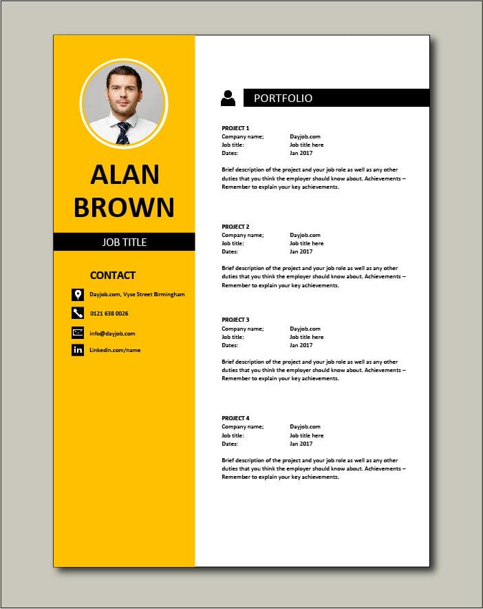 CV template 31 - Portfolio