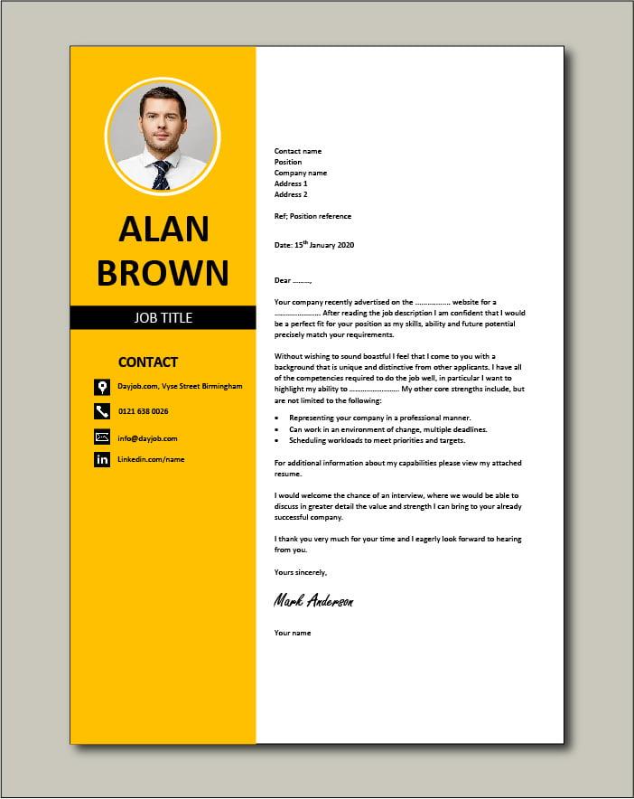 CV template 31 - cover letter