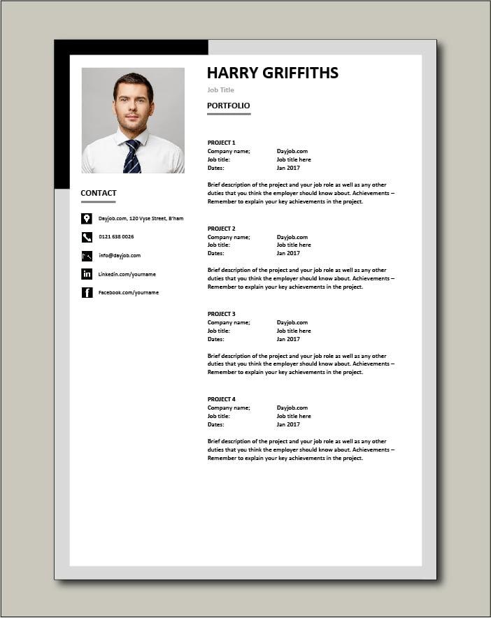 CV template 32 - Portfolio