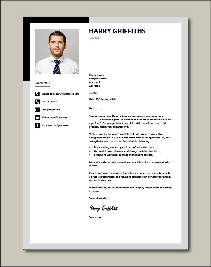 CV template 32 - cover letter