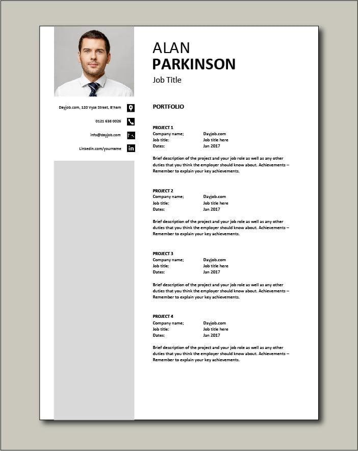 CV template 33 - Portfolio